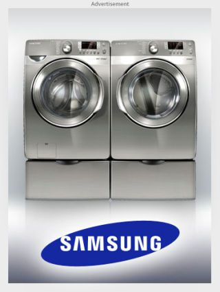 Samsungs deep steam washer and electric steam dryer