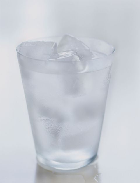 kaca of ice water
