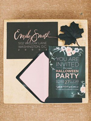 할로윈 party ideas from style me pretty living